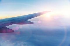 Aile de l'avion Images stock