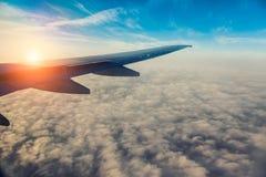 Aile de l'avion photos libres de droits