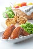 Aile de poulet de BBQ Images stock