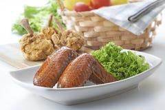 Aile de poulet de BBQ Photo stock