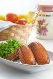 Aile de poulet de BBQ Photographie stock