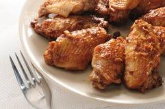 Aile de poulet de sauce de soja Photographie stock libre de droits