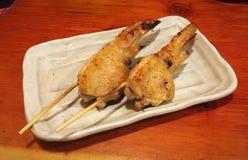 """Aile de poulet de Yakitori avec le  de  de ã de ¼ de """"de ç de © de ¡ de å de ½ de ¾ de ç de ‹de ‰ de æ de ¥ de ³ d'é de  de   Image libre de droits"""