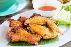 Aile de poulet frit Images libres de droits