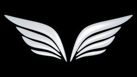 aile de symbole de l'oiseau 3d Image libre de droits