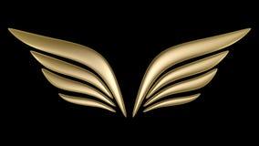 aile de symbole de l'oiseau 3d Photos libres de droits
