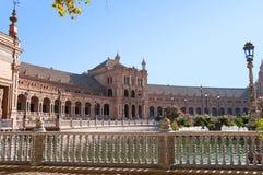 Aile du sud du bâtiment de Espana de plaza Photographie stock
