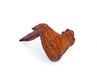 aile fumée par poulet Photographie stock