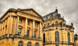 The Aile Gabriel and the Royal Chapel of the Palace of Versaille Royalty Free Stock Images