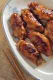 Aile rôtie de poulet Photos libres de droits
