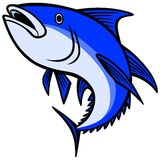 Aileron bleu Tuna Icon Images libres de droits