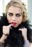 Aileron blond magnifique de femme Photos libres de droits