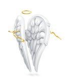 Ailes blanches d'anges illustration libre de droits