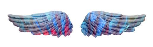 Ailes colorées de plâtre Image libre de droits