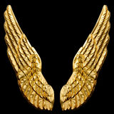 ailes d'or photos stock