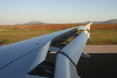 Ailes d'Airbus Photos libres de droits