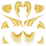 ailes d'isolement par ange Photographie stock libre de droits