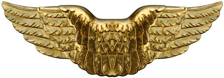 Ailes d'or symboliques Image stock
