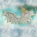 Ailes dans le ciel avec des étoiles illustration libre de droits