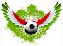 Ailes de ballon de football de l'Italie Photos libres de droits