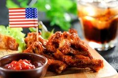 Ailes de Buffalo, poulet de barbecue Photos stock