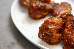 Ailes de poulet épicées Images stock