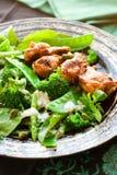 Ailes de poulet et salade végétale image stock