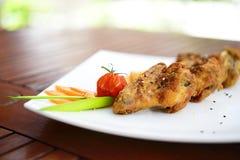 Ailes de poulet frit Images libres de droits