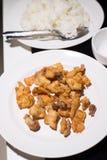 Ailes de poulet frit Photos libres de droits