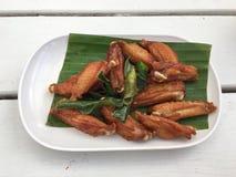 Ailes de poulet frit Photo libre de droits