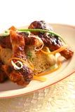 Ailes de poulet gastronomes Photos stock