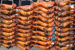 Ailes de poulet grillées Photographie stock
