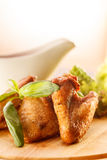Ailes de poulet grillées Photos libres de droits