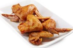 Ailes de poulet grillées photo libre de droits