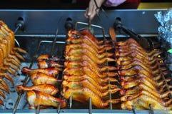 Ailes de poulet grillées Images stock