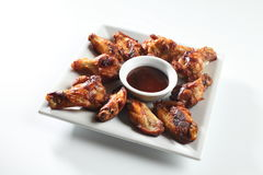 Ailes de poulet épicées Image libre de droits