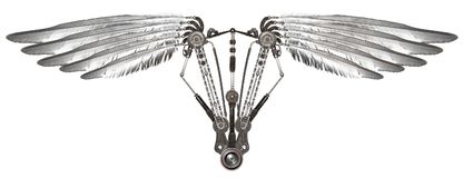 Ailes de Steampunk d'isolement Images libres de droits