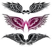 Ailes de tatouage. Éléments pour la conception. Image libre de droits