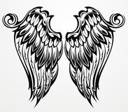 Ailes de tatouage Image stock