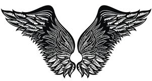Ailes de tatouage Eagle Bird ou Angel Wings Image stock