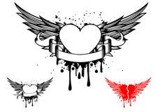 Coeur tribal avec des ailes photos libres de droits - Dessin de coeur avec des ailes ...