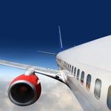 Ailes et engines des aéronefs Images stock