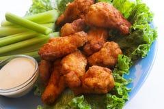 Ailes et immersion de poulet Images stock