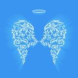Ailes et Nimbus floraux originaux d'ange Photographie stock libre de droits