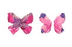 Ailes grunges de papillon avec la texture de peinture à l'huile illustration de vecteur