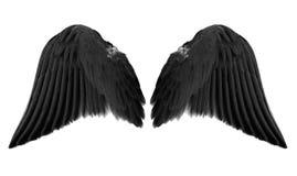 Ailes noires d'ange images stock
