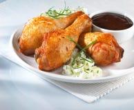 Ailes rôties de poulet Photographie stock
