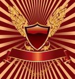 Ailes rouges d'écran protecteur Image stock