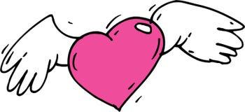 Ailes rouges de coeur Photos libres de droits