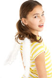 Ailes s'usantes d'ange de jeune fille Photos stock
